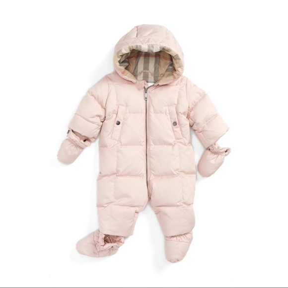 53b4aad4a Burberry Jackets & Coats | Skylar Quilted Down Snowsuit Size 12 Mo ...